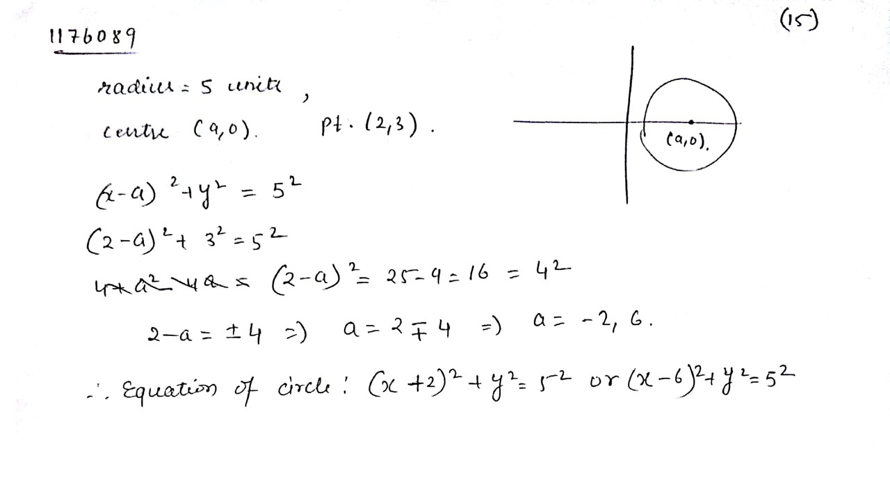 Equation of a Circle Flashcards | Quizlet
