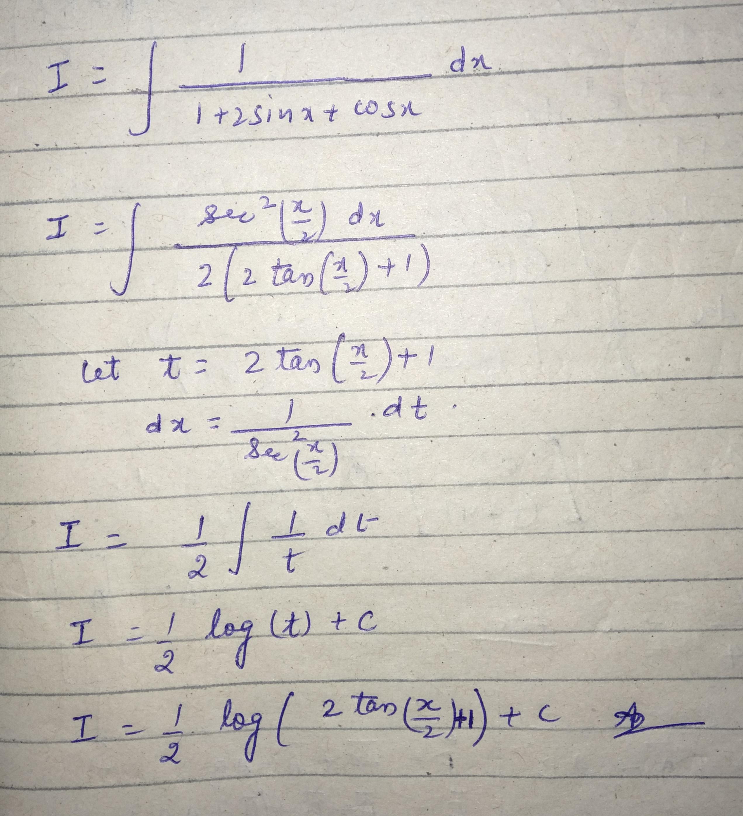 Dx1 2sinx Cosx Equals