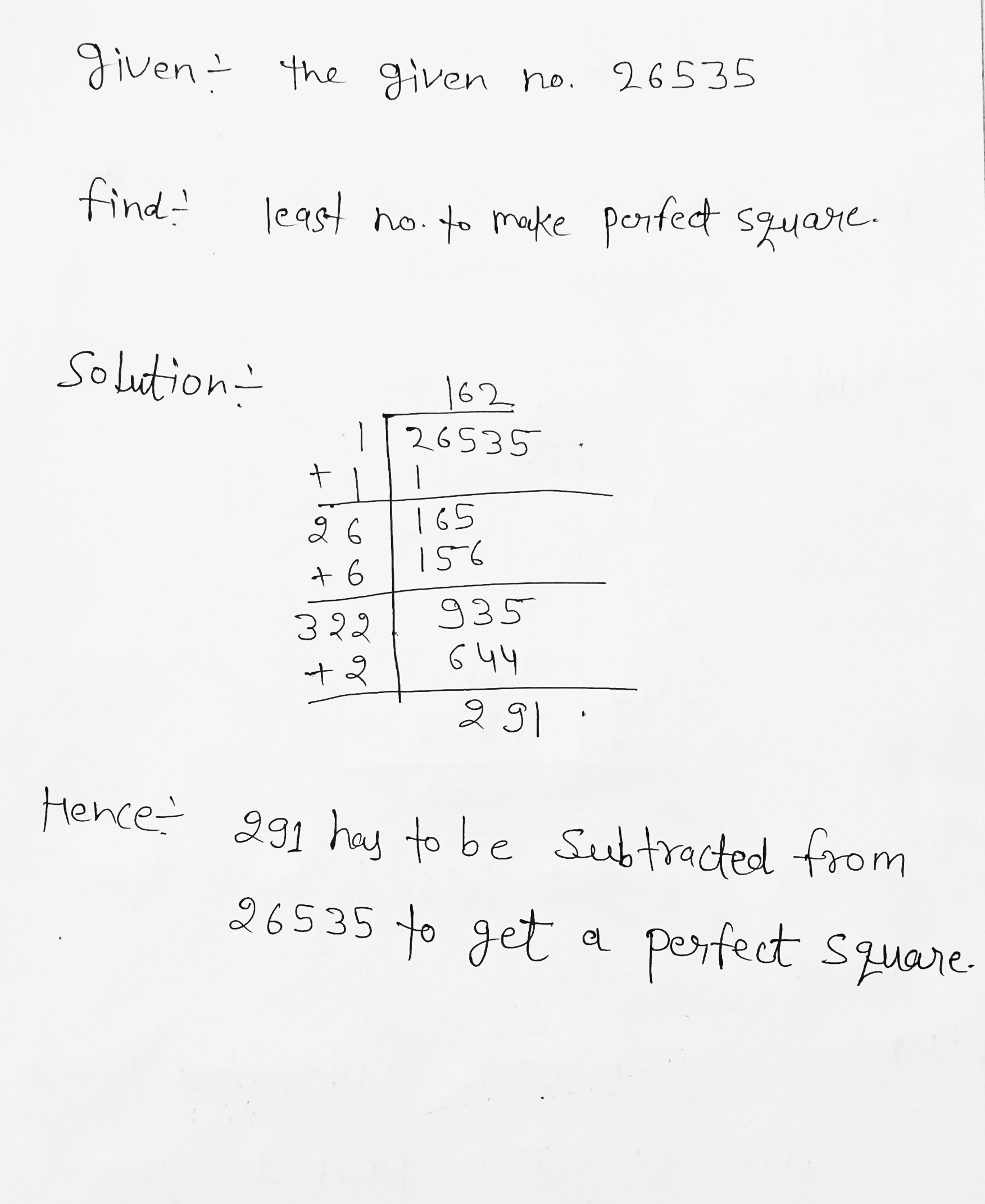 Find The Square Root Of 225 Using Repeated Subtraction Edurev is like a wikipedia just for education and the finding square root by repeated subtraction class do check out the sample questions of finding square root by repeated subtraction class 8 245 gy +592 ht +509 hm + va +379 hn +504 hk +852 hu +36 is +354 in +91 id +62 ci +225. toppr