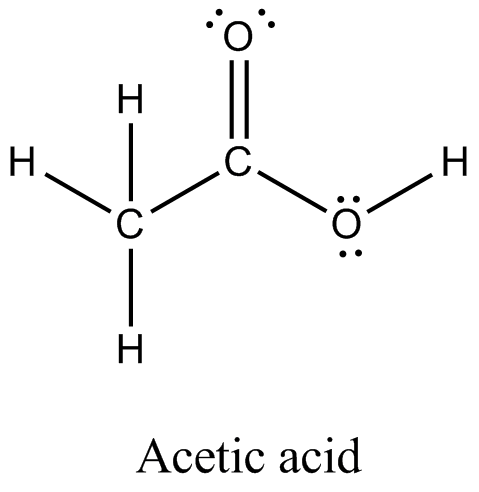 The Skeletal Structure Of Ch3cooh As Shown Above Is Correct But Some Of The Bonds Are Shown Incorrectly Write The Correct Lewis Structure For Acetic Acid