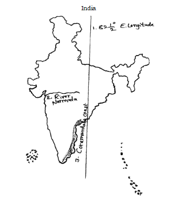 Draw an outline map of India and mark the following :a) 82 ... Draw Map Of India on draw map of russia, draw map of england, draw map of ireland, draw map of california, draw map of bahamas, draw map of guyana, draw map of nepal, draw map of world, draw map of norway, draw map of cambodia, draw map of asia, draw map of portugal, draw map of korea, draw the taj mahal, draw map of afghanistan,