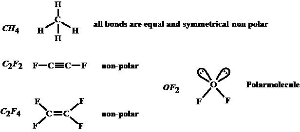 Of The Following A Non Polar Molecule Is