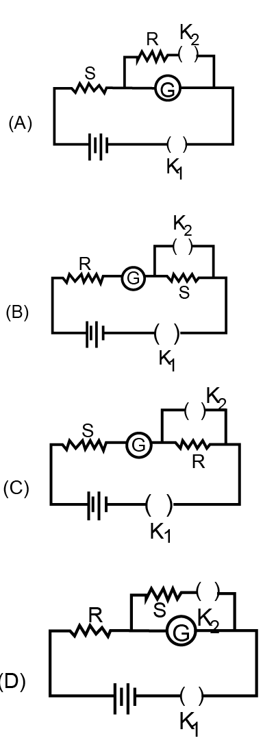 In The Circuit Diagrams  A  B  C And D  Shown Belo Toppr Com